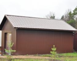 Проект гаража для дачи