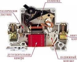 Работа автоматического выключателя