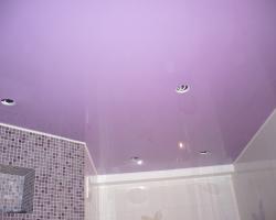 Натяжные потолки в ванных комнатах