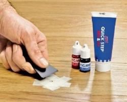 Как убрать царапины на линолеуме?