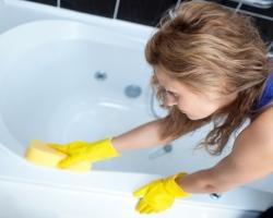 Особенности ухода за акриловой ванной
