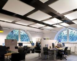 Применение акустического потолка