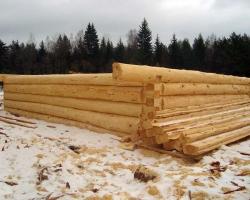 Как обработать бревна для постройки бани?