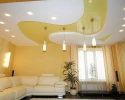 В чем заключается оформление потолка натяжными конструкциями