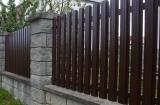 Строительство забора из металлического штакетника