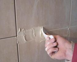 Смеси для затирки швов. Облицовка стен плиткой