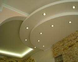 Монтаж комбинированного подвесного потолка