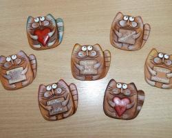 Делаем декоративные магниты из полимерной глины
