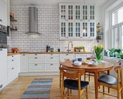 Свежие веяния скандинавского стиля в дизайнерском оформлении кухни