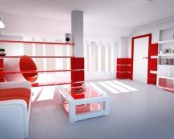 Красный цвет интерьера