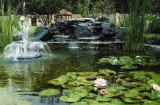 Стильный садовый фонтан из профильных труб