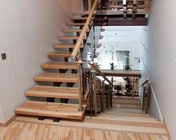 Металлическая лестница для частного дома