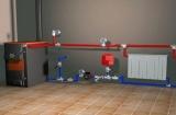 Отопление частного дома с использованием  водяного насоса