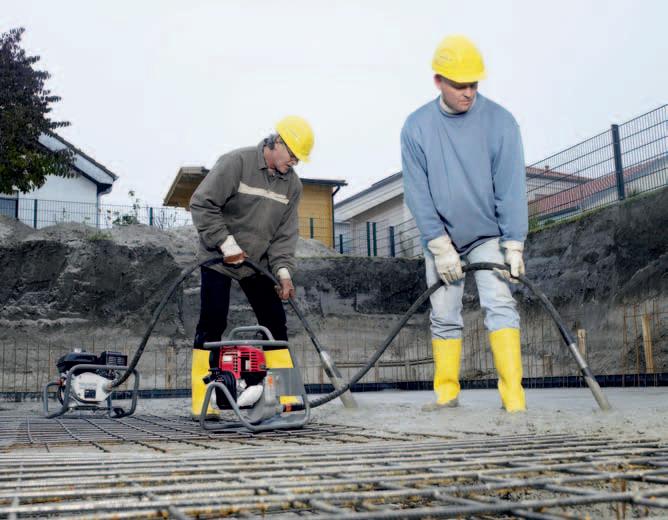 Уплотнение бетонной смеси: промышленные средства
