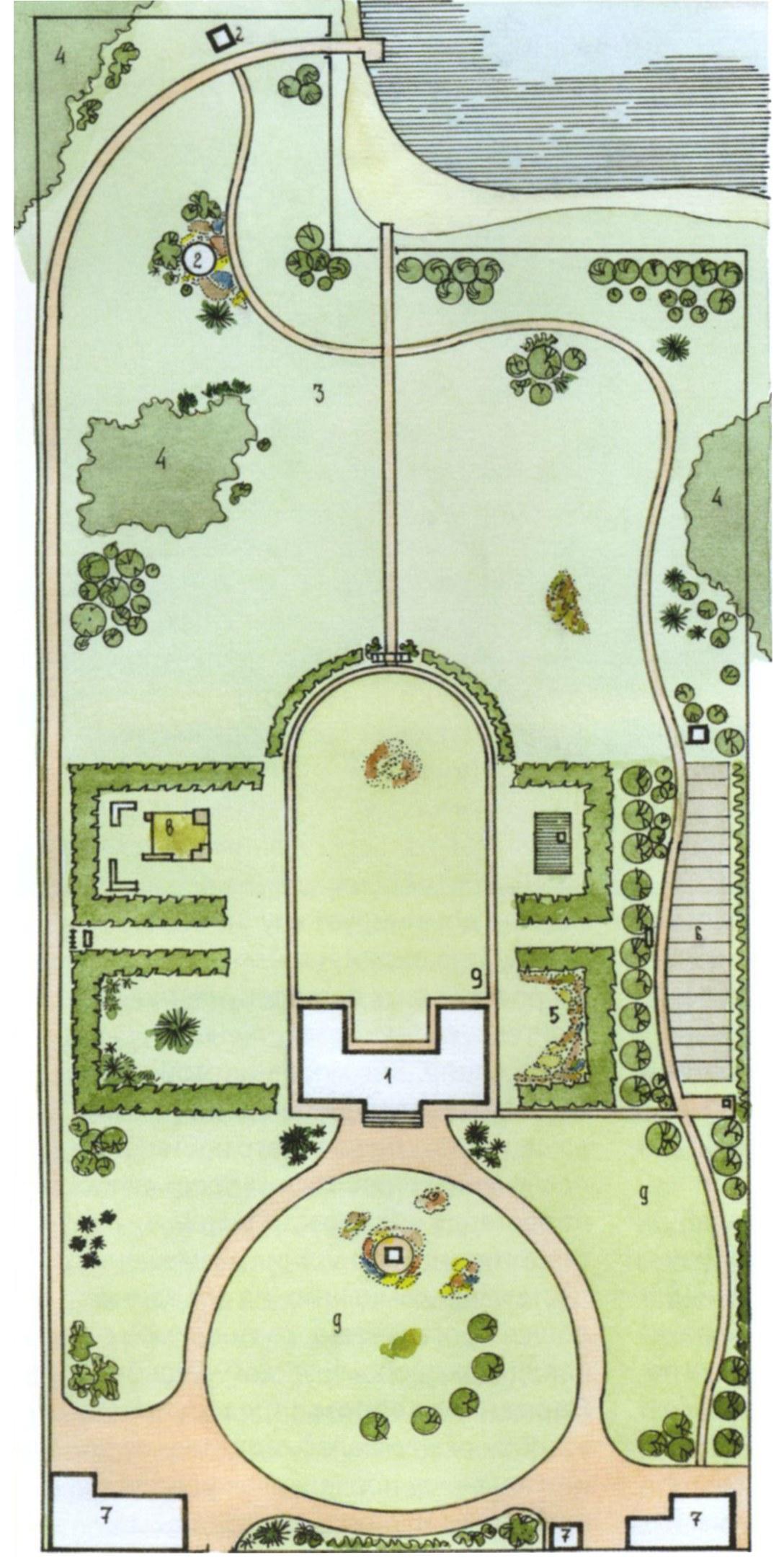 Планировка сада на участке большой площади. Продолжение 1