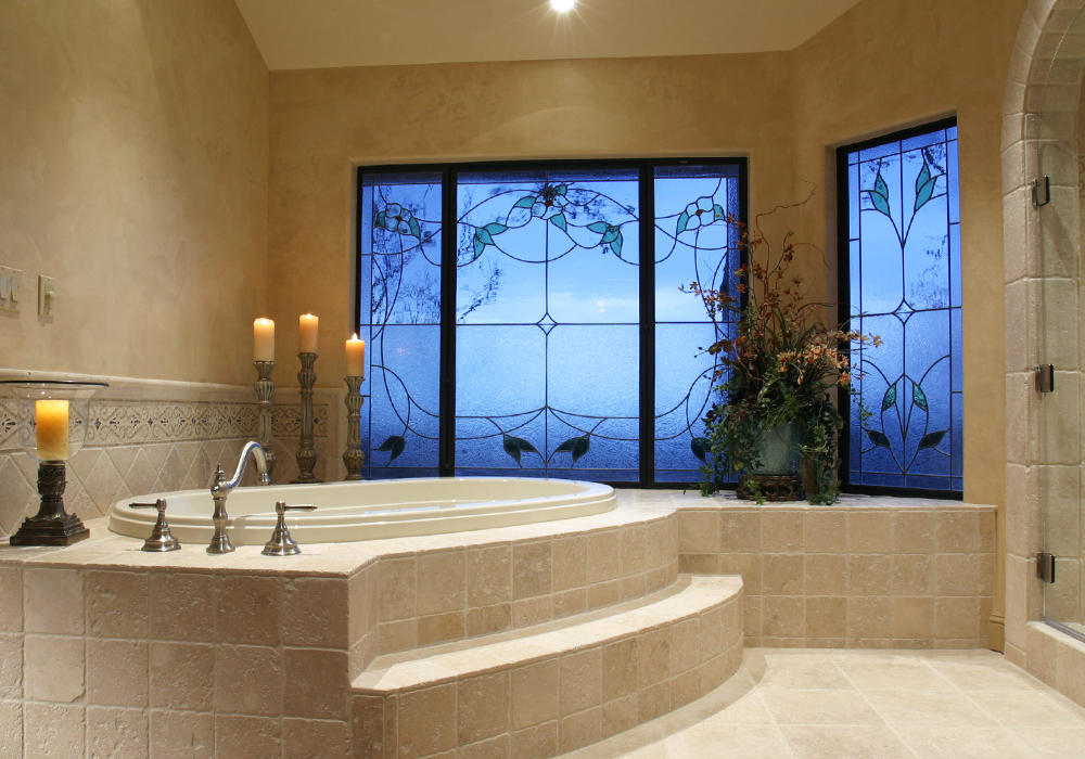 Travertine bathroom tile