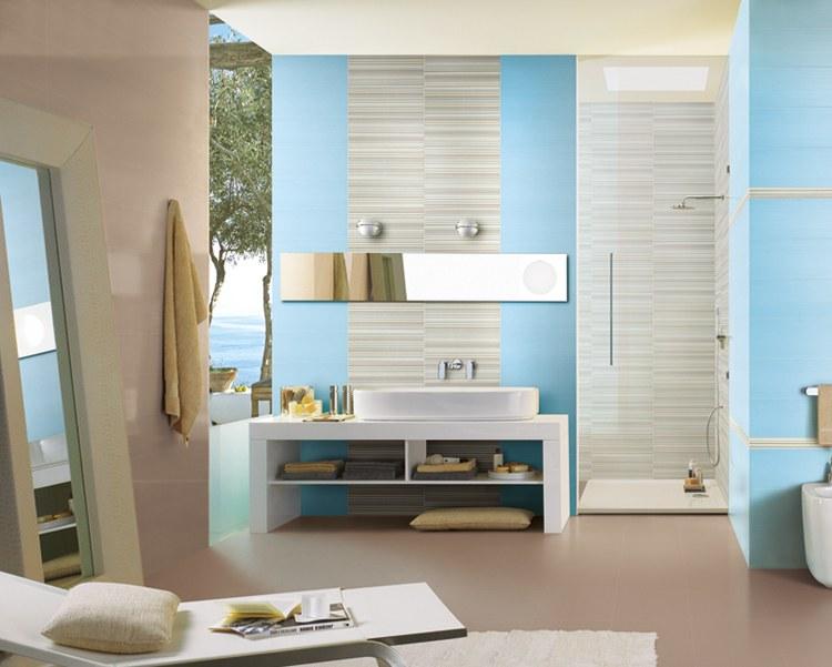 Морской пейзаж в ванной комнате