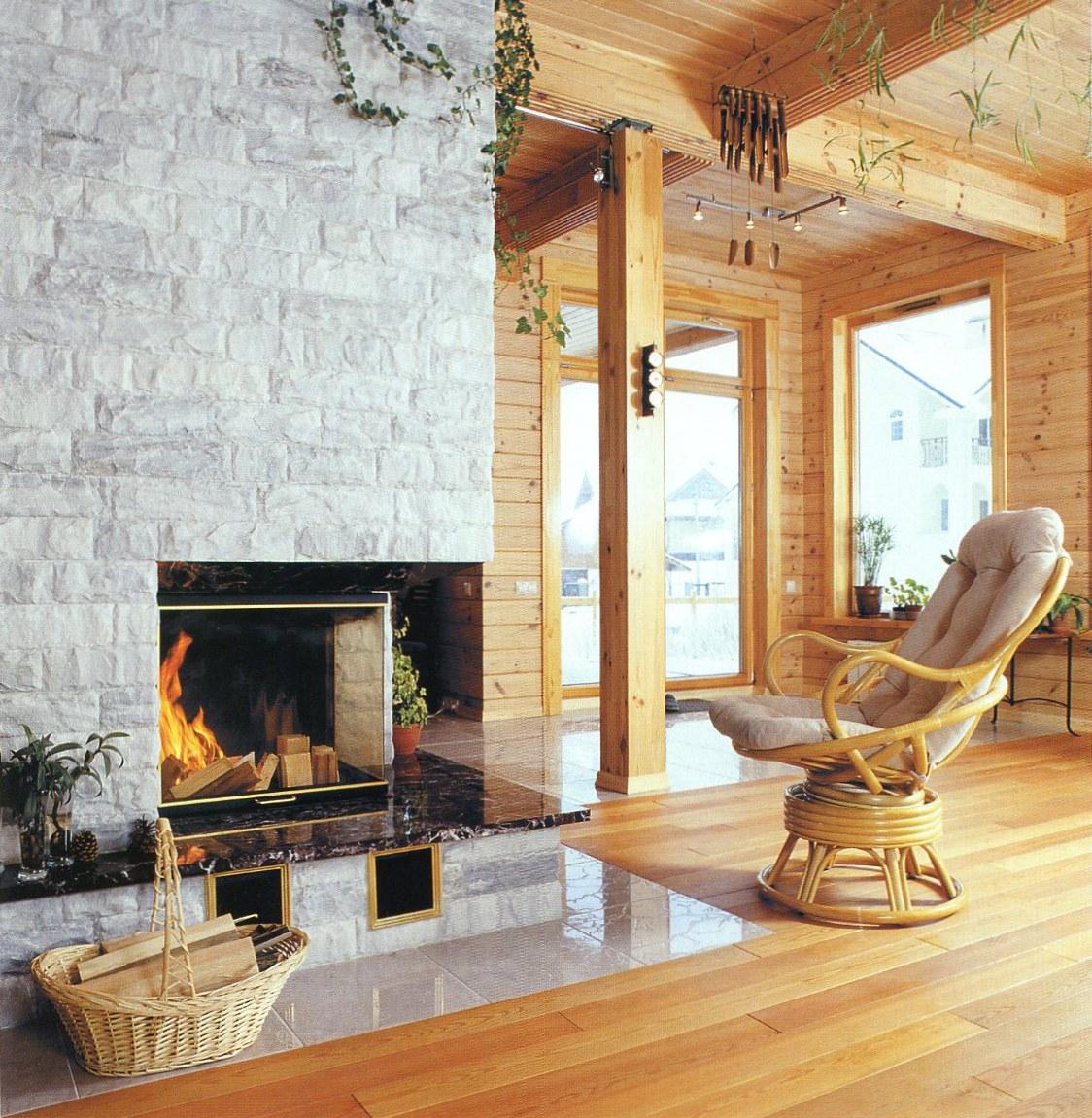 Варианты каминов для деревянного дома по типам топлива 41