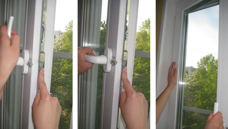 Заело балконную пластиковую дверь.