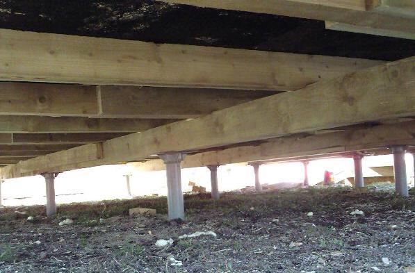 Готовим участок для строительства домика на сваях