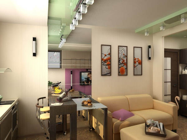 Интерьер с характером в малогабаритной квартире