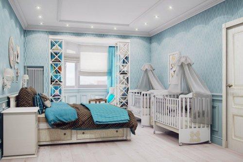 Лучшие способы совместить спальню и детскую