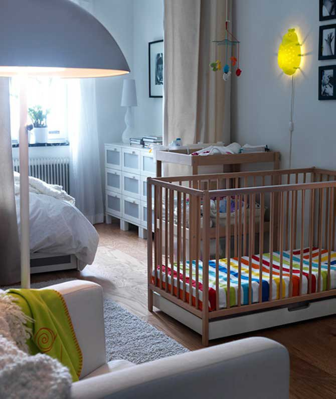 Дизайн комнаты ребенка с родителями