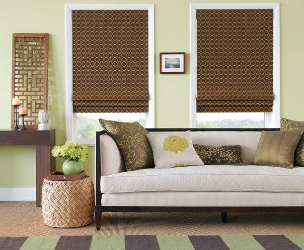 Рулонные шторы в интерьере вашей квартиры