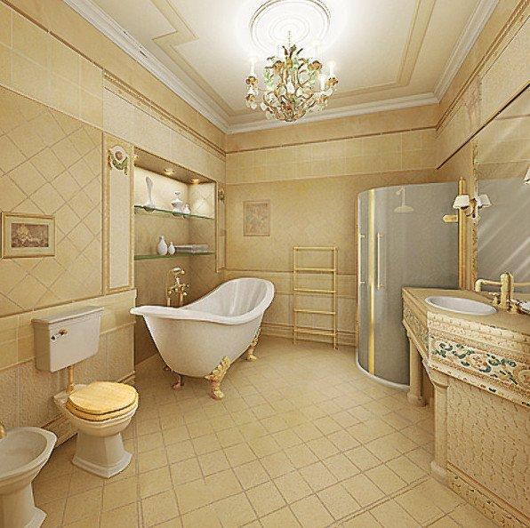 Стили в дизайне ванной комнаты