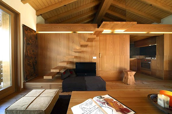 Дерево - идеальный материал для дизайна интерьера