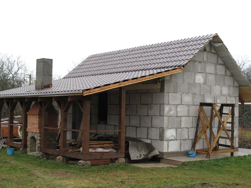 Строительство сарая своими руками из газосиликатных