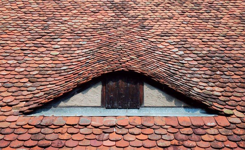 Крыша из натуральной черепицы