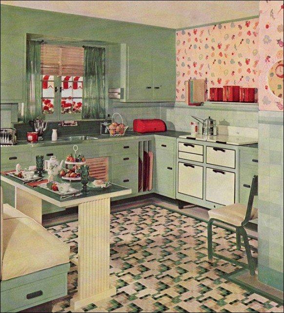 Кухня в стиле американского ретро