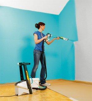 Технология покраски стен с использованием различных инструментов. Продолжение