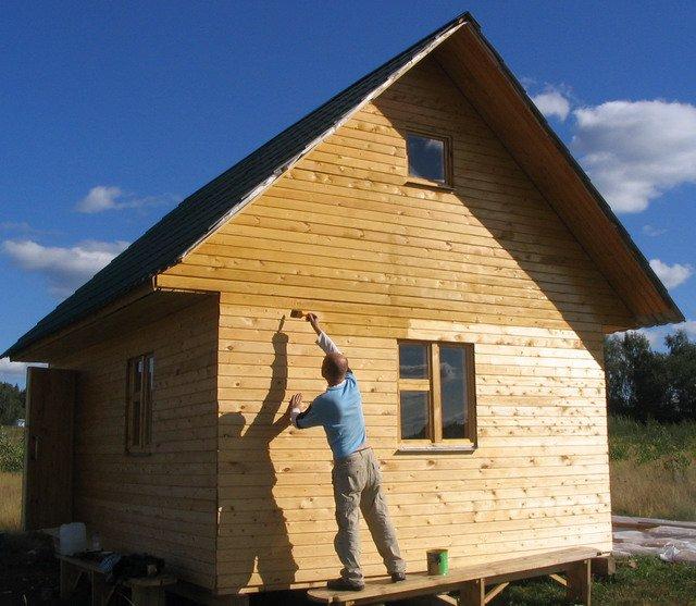 Как построить деревянный дом своими руками фото