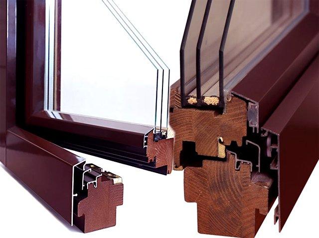 Дерево-алюминиевые окна - долговечность и современный дизайн