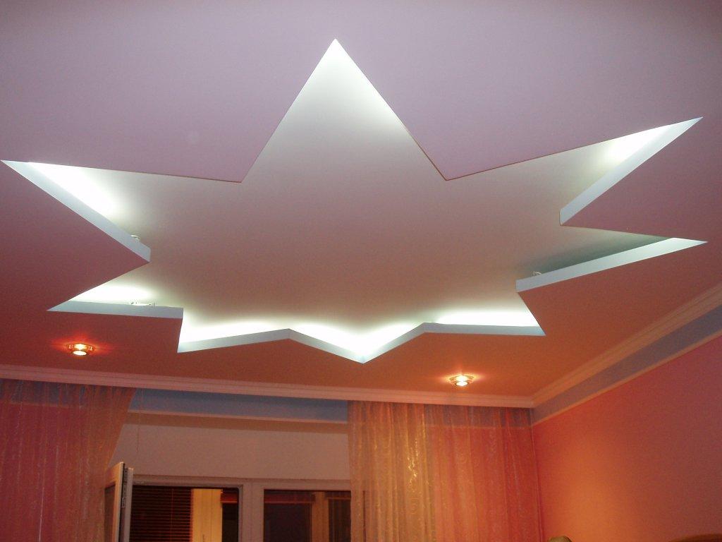 Потолок из гипсокартона: преимущества и недостатки