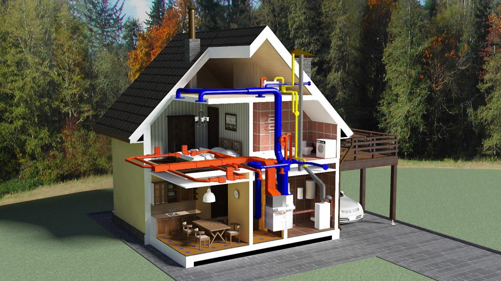 Проектирование и реализация системы отопления для загородного дома
