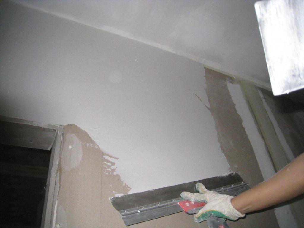 Шпатлевка потолка и стен