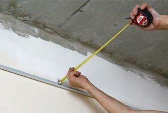 Монтаж кассетного потолка (открытая подвесная система)