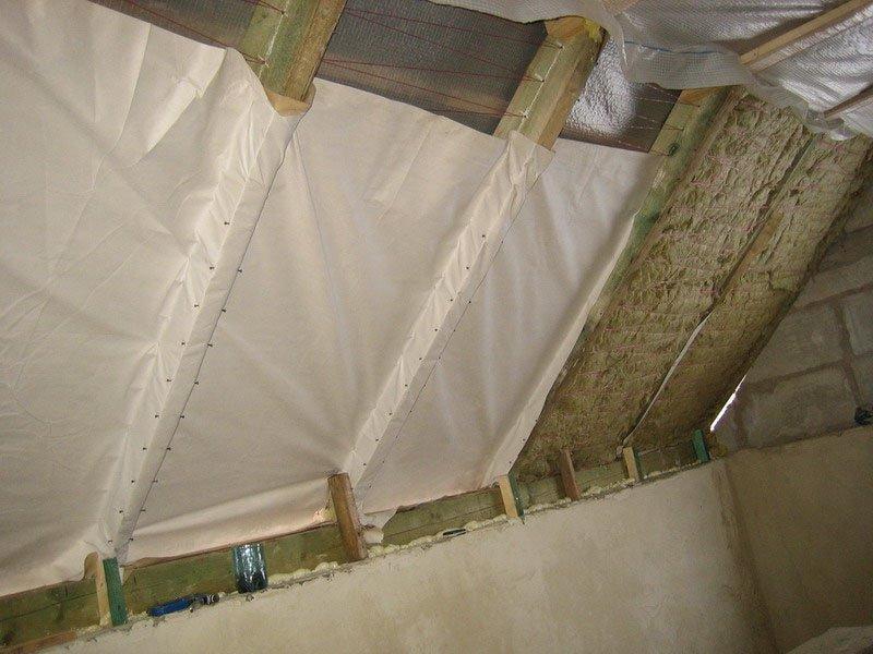 Утепление потолков деревянных коттеджей