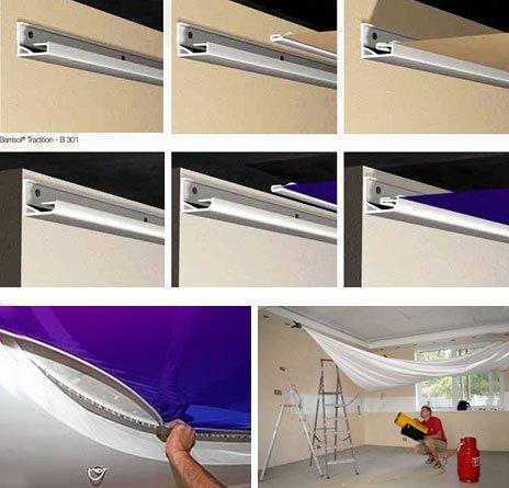 Монтаж натяжного потолка: клиновой или гарпунный