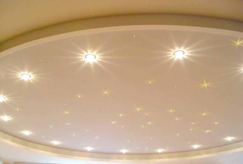 Знакомство с подвесными потолками: натяжные конструкции