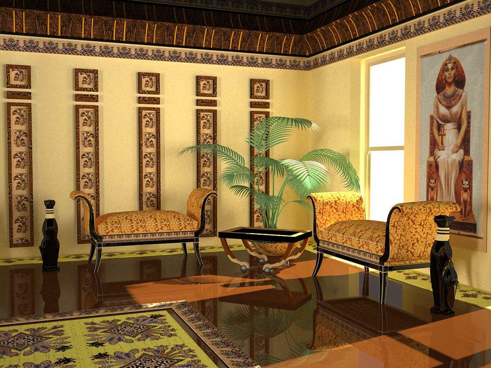 Тайны египетского стиля в интерьере