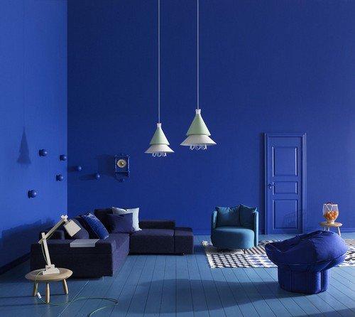 Интерьер в синих тонах