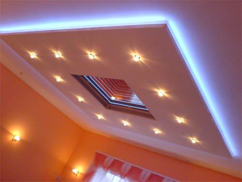 Применение светодиодной ленты в интерьере