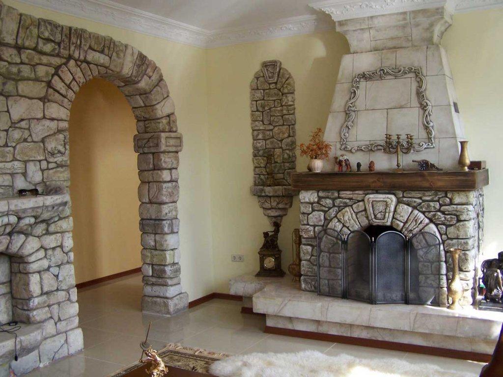 Искусственный декоративный камень в современном интерьере