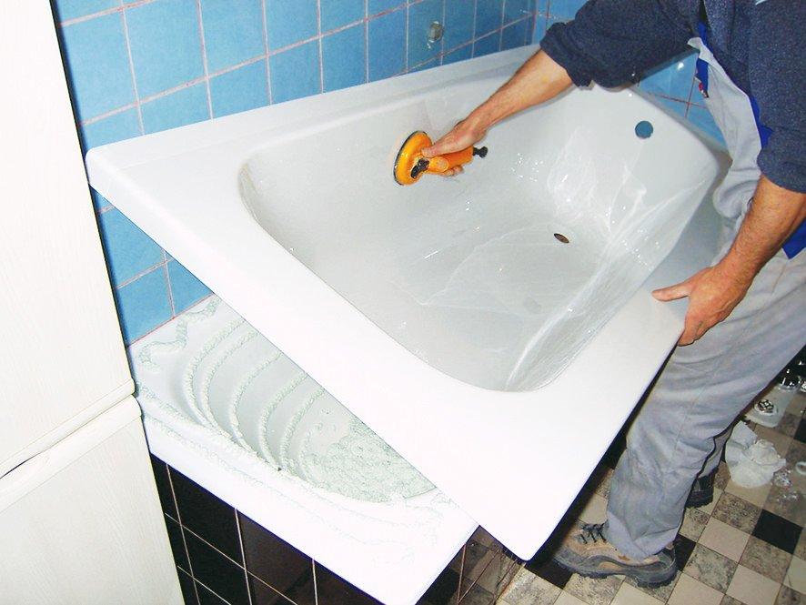 Новая жизнь для старой ванны - реставрация
