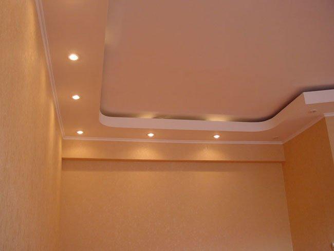 Двухуровневые потолки из гипсокартона - гениальная простота
