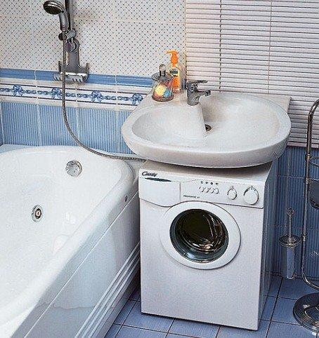 Где разместить стиральную машину: необычные идеи